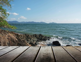 Tablón de coco mar paraíso natural