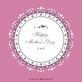 Tarjeta artística del día de la madre