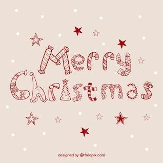 Tarjeta caligráfica de Navidad