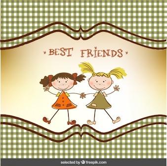 Tarjeta de agradecimiento de mejores amigos