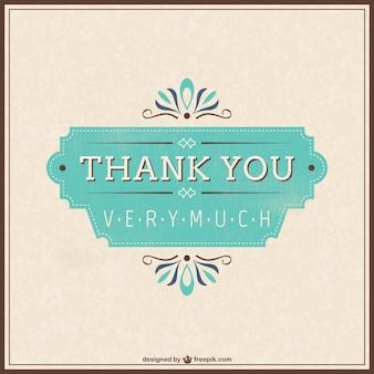 Tarjeta de agradecimiento retro gratis