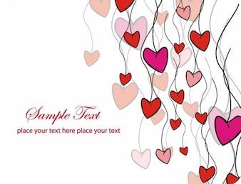 tarjeta de amor ilustración vectorial