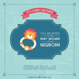 Tarjeta de bienvenida del bebé para niño