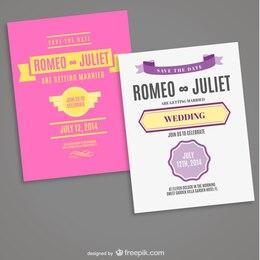 Tarjeta de boda editable