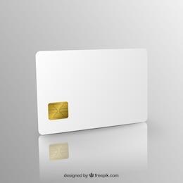 Tarjeta de crédito en blanco