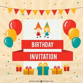 Tarjeta de cumpleaños con globos de colores