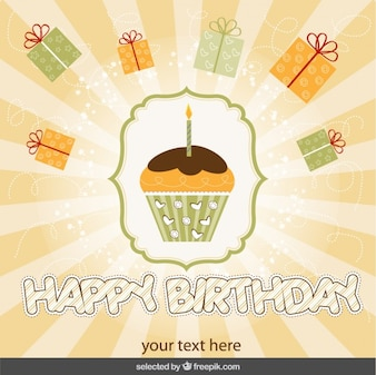 Tarjeta de cumpleaños de magdalena