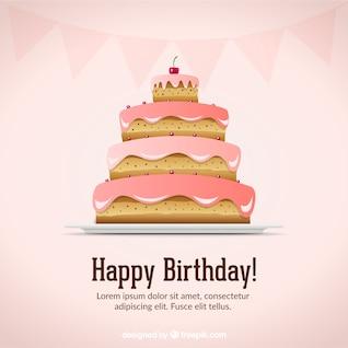 tarjeta de cumpleaños vector material