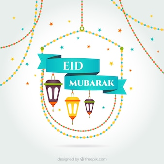 Tarjeta de Eid Mubarak