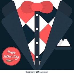 Tarjeta de esmoquin para el día del padre