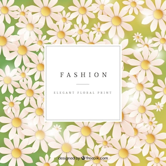 Tarjeta de estampado floral elegante