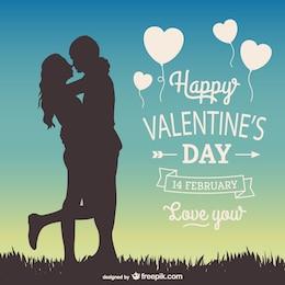 Tarjeta de felicitación 14 de Febrero