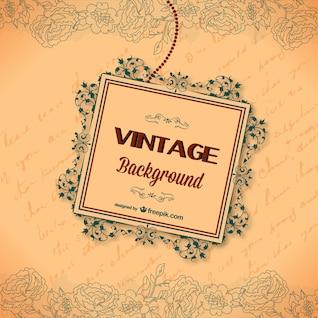 Tarjeta de felicitación caligráfica vintage