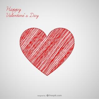 Tarjeta de felicitación de corazón del día de San Valentín