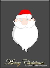 Tarjeta de felicitación de la barba de santa de dibujos animados