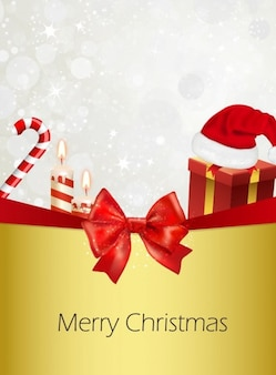 Tarjeta de felicitación de navidad adornos