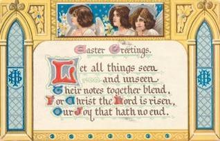 Tarjeta de felicitación de Pascua del vintage