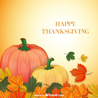 Tarjeta de feliz Acción de Gracias con calabazas