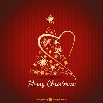 Tarjeta de feliz Navidad con ornamentos de oros