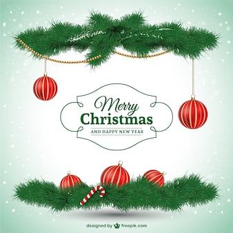 Tarjeta de Feliz Navidad elegante