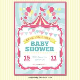 Tarjeta de invitación de bienvenida del bebé