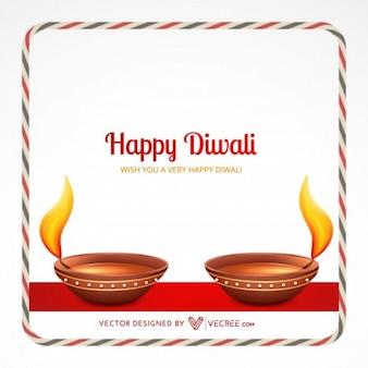 Tarjeta de invitación Diwali festival indio