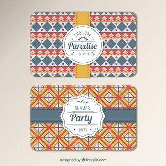 Tarjeta de invitación para la fiesta de verano geométrica