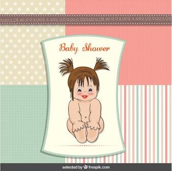 Tarjeta de la ducha de bebé con el bebé adorable