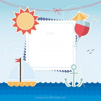 Tarjeta de las vacaciones de verano
