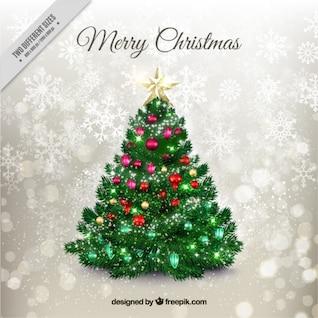 Tarjeta de Navidad con el árbol abstracto