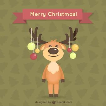 Tarjeta de Navidad con renos