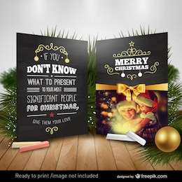 Tarjeta de Navidad motivacional
