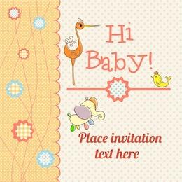 Tarjeta de presentación de bebé