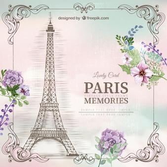 Tarjeta de recuerdo de París