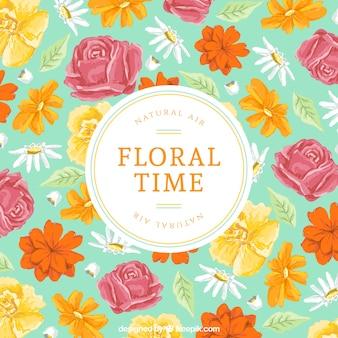 Tarjeta de tiempo Floral