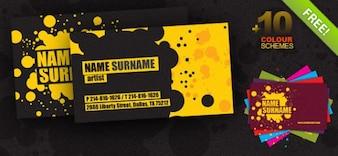 tarjeta de visita creativa psd plantilla