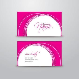 Tarjeta de visita de color rosa