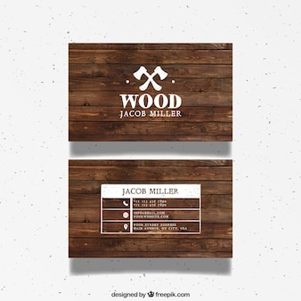 Tarjeta de visita de madera