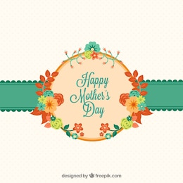 Tarjeta del día de las madres con flores