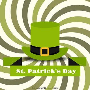 Tarjeta del día de San Patricio con sombrero verde