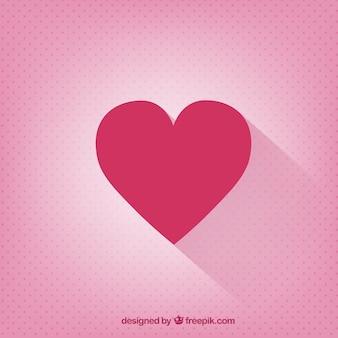 Tarjeta del día de San Valentín con un corazón plano