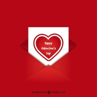 Tarjeta del día de San Valentín en un sobre