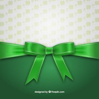Tarjeta del día de St Patrick con la cinta