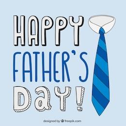 Tarjeta del día del padre con corbata