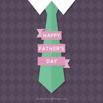 Tarjeta del día del padre con una corbata