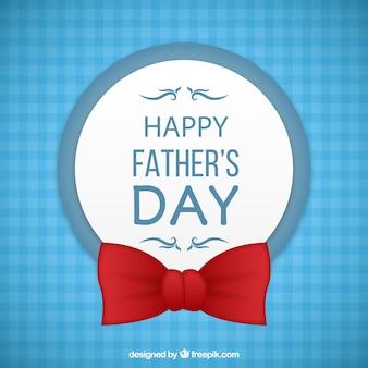 Tarjeta del día del padre con una pajarita
