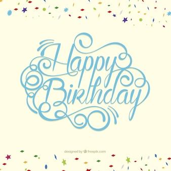 Tarjeta del feliz cumpleaños en estilo de letras