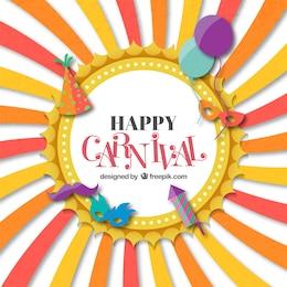 Tarjeta divertida de carnaval