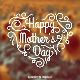 Tarjeta escrita a mano para el día de las madres