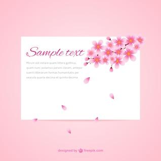 Tarjeta Hermosa flor de cerezo